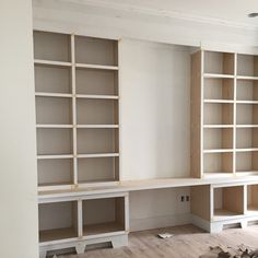 Progress on the built ins in the office #borgesbrooksbuilders
