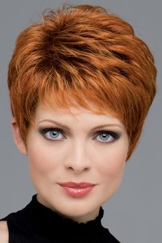 Heather by Envy Wigs - Mono Top, Lace Front, Hand Tied, Human Hair, Synthetic Blend Wig - hair styles I like - Frisuren Hairstyles Over 50, Pixie Hairstyles, Short Hairstyles For Women, Hairstyle Short, Black Hairstyles, Wedding Hairstyles, Trendy Hairstyles, Asymmetrical Hairstyles, Layered Hairstyles