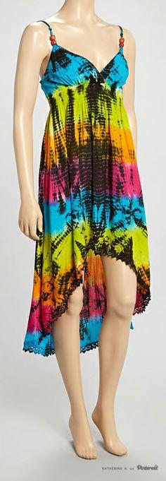 Hippie Festival Tie Dyed Dress #festival