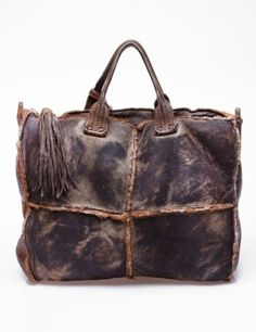 Leather bag with leather tassel ZsaZsa Bellagio – Like No Other: men