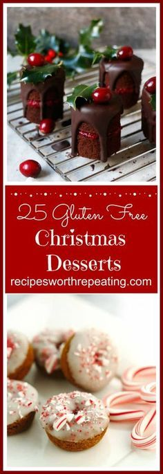 Christmas is upon us and that means all those fantastic and amazingly delicious desserts will be here soon! But why wait until Christmas day? We can enjoy these Christmas desserts now! I have put together a mouthwatering roundup featuring 25 Gluten Free Christmas Desserts that everyone is guaranteed to enjoy starting right now!