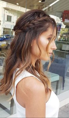 Cute Prom Hairstyles, Down Hairstyles, Wedding Hairstyles, Bridesmade Hair, Civil Wedding, Wedding Hair Down, Grunge Hair, How To Make Hair, Bridal Makeup