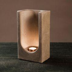 Tealight Totem Concrete by Chris Jamison