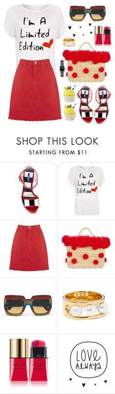 """""""I´m a limited edition"""" by hamaly ❤ liked on Polyvore featuring Dolce&Gabbana, WearAll, Nannacay, Gucci, Chloé, Yves Saint Laurent, outfit, ootd, trends and denimskirt"""