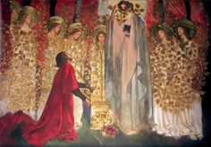 Edwin Austin Abbey (1852-1911)   Sir Galahad finds the Holy Grail   The Quest and Achievement of the Holy Grail, 15 panels in the Boston Public Library, 1895