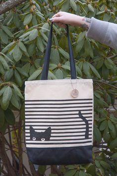 Cat Stripes Tote! #seltzergoods #catlady