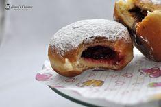 Prajitura cu mousse de visine — Alina's Cuisine Doughnut, Mini, Caramel, Muffin, Breakfast, Desserts, Kitchens, Sticky Toffee, Morning Coffee