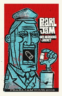 Pearl Jam w/ My Morning Jacket - gig poster