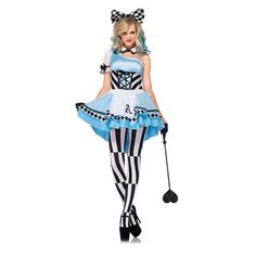 Alice in Wonderland Costume Adult Halloween Fancy Dress in Clothing, Shoes & Accessories, Costumes, Reenactment, Theater, Costumes | eBay