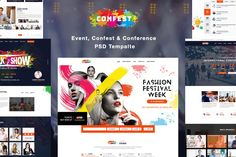 ConFest - Multi-Purposes Event and Conference Website Template PSD
