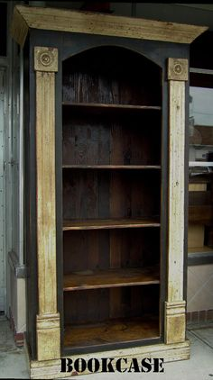 Beautiful Bookcase built from Recycled Wood by SacRiverPrimitives, $725.00