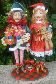 PATTERN paper version PIPPA & OLIVER Christmas by michelledolls