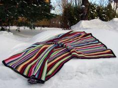 Oneofakind Crocheted Cotton Granny Goes Striped door Stjarnkraft, €2035,00