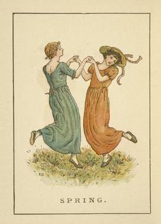 Image Title:  Spring.1893 Creator: Greenaway, Kate, 1846-1901 -- Artist Source: Almanack for .... / Kate Greenaway's almanack for 1894.
