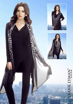 Frank Lyman Design Fall 2015 Duster 3 Façons De Porter / 3 Ways to Wear Duster #55133