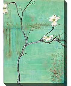 @Overstock - This classic gallery-wrapped canvas art is perfect for those who love simplicity. Painted by Laura Gunn, this contemporary limited edition piece with a floral subject has a horizontal orientation and comes with a certificate of authenticity. http://www.overstock.com/Home-Garden/Dogwood-on-Turquoise-III-Gallery-Wrapped-Canvas-Art/2955212/product.html?CID=214117 $94.99