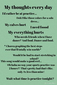 A typical irish dancers thoughts...
