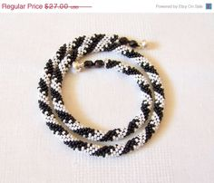 CHRISTMAS SALE SALE  Beaded Crochet Rope Necklace  by lutita