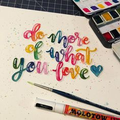 We all have deadlines and commitments, but sometimes we need to take time for ourselves... time to do more of what we love! ❤️ #createinspirepositivity @tjt.design @lettersbyshells @hazelslettering @createinspirepositivity . . . #watercolorlettering #moderncalligraphy #handwriting #letter #handlettered #handlettering #lettering