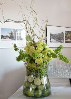 Wedding, Flowers, Reception, White, Green, Brown, Arrangement, Cesaro designs - Project Wedding