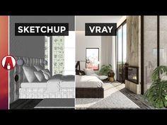 Vray for Sketchup Interior Rendering Workflow Interior Design Renderings, Interior Rendering, Architecture Design, Architecture Diagrams, Architecture Portfolio, Sketchup Rendering, Sketchup Model, Vray Tutorials, Autocad