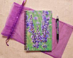 LAVENDER JOURNAL & PEN Gift Set--Journal, Notebook, Journal and Pen, Gift Set, Journaling, Journal Gift Set, Lavender, Lavender Stationery