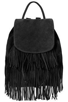 dda6c8a75b1d Suede Tassel Backpack