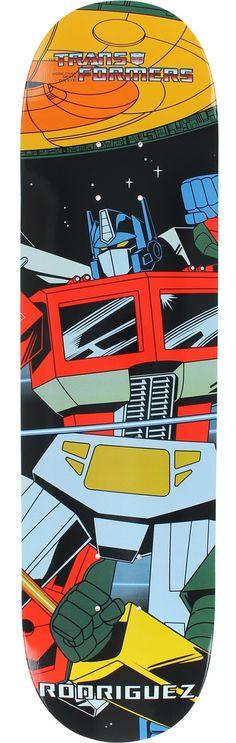 Primitive Skateboarding Paul Rodriguez Transformers Deck