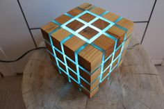 Diy Resin Lamp, Escape Room Puzzles, Epoxy Resin Table, Resin Furniture, Wooden Cubes, Wood Lamps, Night Lamps, Interior Exterior, Diy Wood Projects