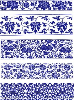 blue and white porcelain patterns