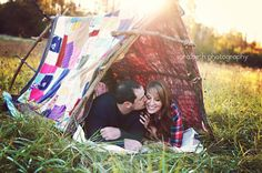 Quilt used for tent, Cute Prop! i think someting like this would be so great