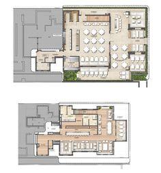 Forte Dei Marmi by Oppenheim Architecture Design Cafe Floor Plan, Restaurant Floor Plan, Restaurant Layout, Hotel Floor Plan, Restaurant Interior Design, Restaurant Interiors, Architecture Design, Plans Architecture, Co Working