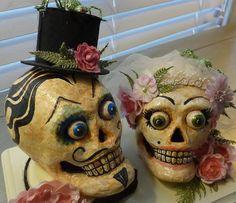 hand-painted-paper-mache-skulls