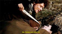 Outlander - Jamie, hiding in the stable, foils Claire's escape plans by telling her she has not thought it out too well.