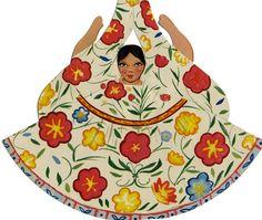 Trajes Tipicos Mexicanos: Vintage Mexican Paper Dolls