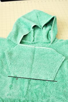 Hooded Surfer's Poncho (hooded towel)