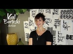 Getting creative with Kal Barteski: A self-publishing success story...she has a wonderful brush-y lettering in her work