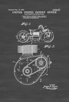 """24/"""" x 36/"""" Poster Motorcycle Drive Chain"""