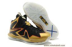 Nike Air Max LeBron X Elite EXT Celebration Pack Championship Basketball Shoes Black Gold Nike Zoom, Nike Sb, Nike Air Max, Kobe 9 Shoes, Kd Shoes, New Jordans Shoes, Air Jordan Shoes, Shoes Men, Nike Lebron