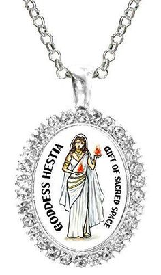 My Altar Goddess Hestia Gift of Sacred Space Rose Gold Stainless Steel Pendant Necklace