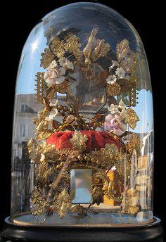 Boccacino The Bell Jar, Bell Jars, Cloche Decor, English Decor, Bird Cages, French Wedding, Bridal Crown, Headpiece Wedding, Apothecary Jars