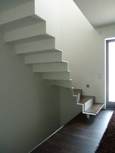 Pretty Folding stairs: fashionable hallway, hall and staircase by mussler gesamtplan gmbh Stairs And Staircase, Steel Stairs, Modern Staircase, Staircase Design, Stairs Architecture, Architecture Details, Interior Architecture, Steps Design, Minimalist Architecture