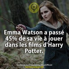 Emma Watson spent of her life playing in Harry Potter movies. & Did you know that? & Every day, discover new information to shine in society! Harry Potter Film, Harry Potter Facts, Emma Watson, Funny Fun Facts, Movie Co, Movies And Series, Hogwarts, Did You Know, Tv