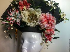 Купить Головной убор китайской невесты - разноцветный, головной убор, исторический костюм, историческая одежда
