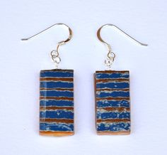 little blue earrings