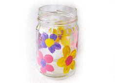 Mother's Day Crafts: Gift Ideas for Kids – Fingerprint Flower Vase - Kaboose.com make these to put bath salts in!