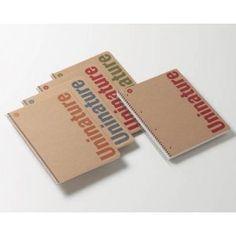 Cuaderno 100 % reciclado UNINATURE   Tamaño: Folio (215 x 310 mm.)   Con cuadricula de 4 mm.