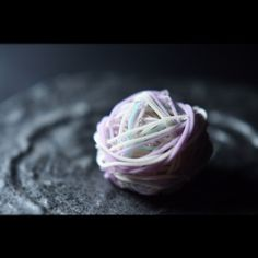 """日一菓 「七変化」  wagashi of the day """"Hydrangea"""" 「七変化」紫陽花の別称です。 煉切製です。 小田巻という道具を用いたお菓子です。 錦玉で朝露を表現しています。"""