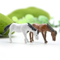 2Pcs/Set Horse Simulation Model Figurines Decoration Resin Mini Gnomes Moss Terrariums Figurines for the Garden #>=#>=#>=#>=#> Click on the pin to check out discount price, color, size, shipping, etc. Save and like it!