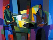 50 works by Marcel Mouly, an important figurative painter of the second half of the 20th century, are on display at the Mairie du 6e in Paris, 10-24 July 2013. Vernissage 7pm on Thursday 11 July. FREE entry.